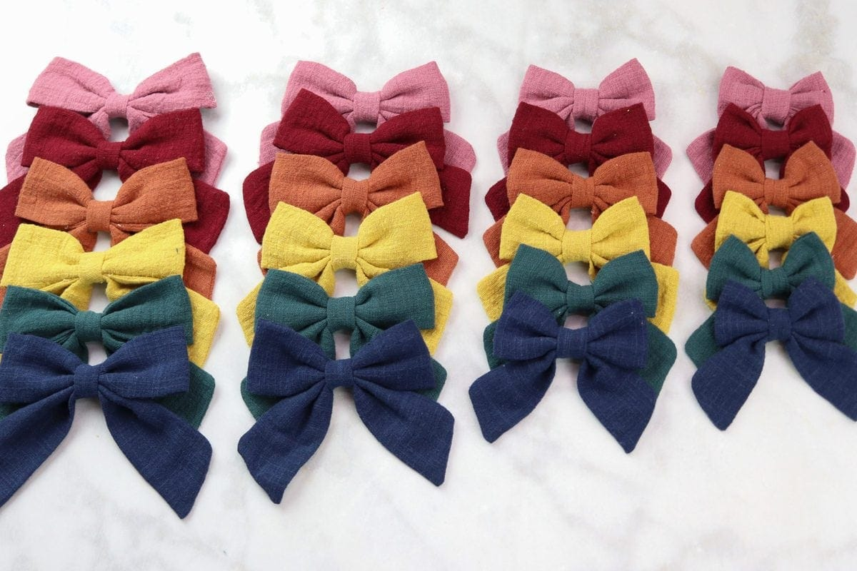 Sailor Bow Hair Bow Sewing Tutorial and Free PDF Printable Pattern