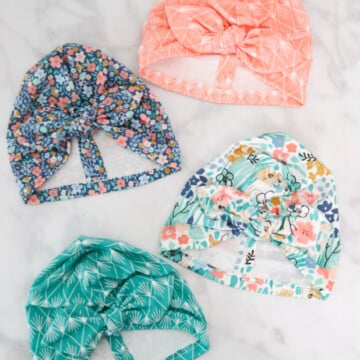 Knotted Baby Turban Pattern featured by top US sewing blog, Sweet Red Poppy