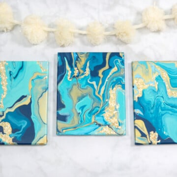 DIY Pour Painting with JOANN featured by top US craft blog, Sweet Red Poppy