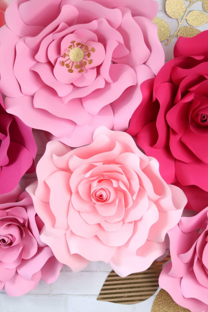 How to make large paper flowers, a tutorial featured by top US craft blog, Sweet Red Poppy