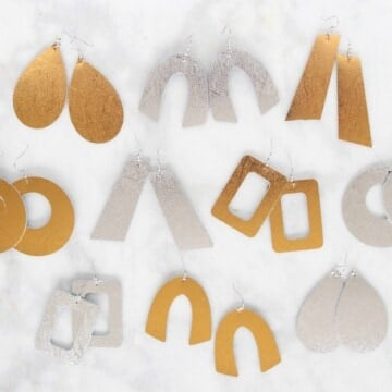 How to Make Leather Earrings with a Cricut