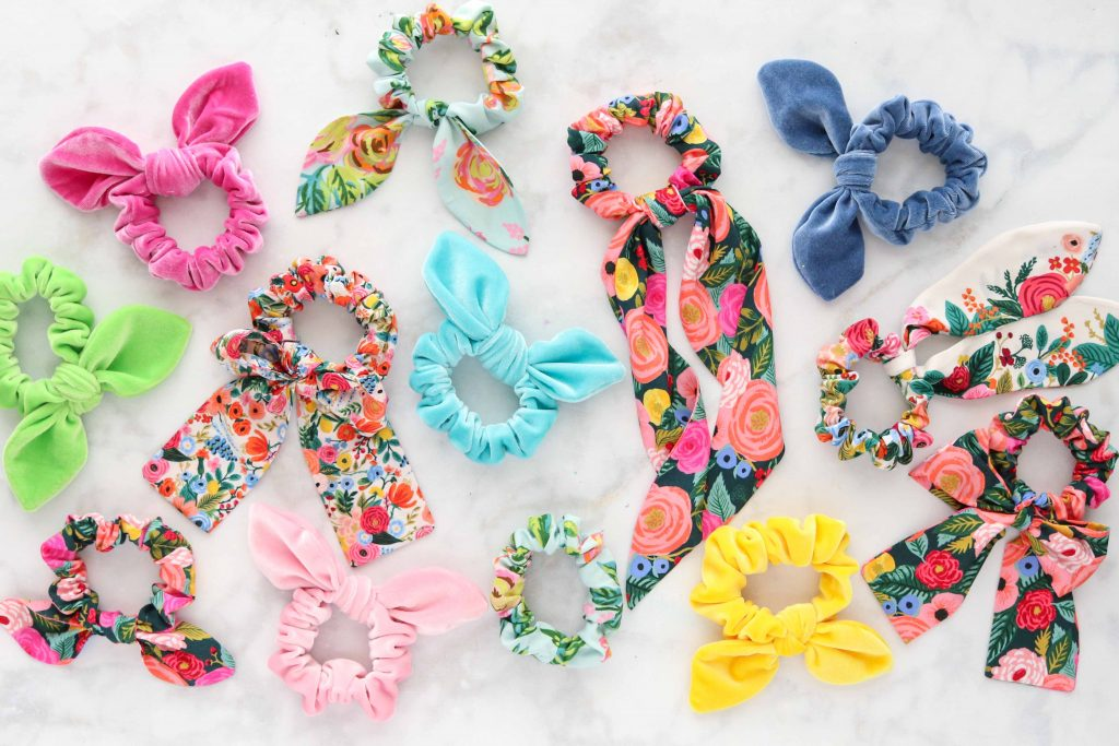 DIY Scrunchie Sewing Pattern and Tutorial