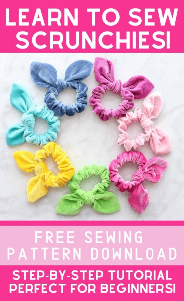 How to Make A Scrunchie, a free sewing pattern by top US sewing blog, Sweet Red Poppy: