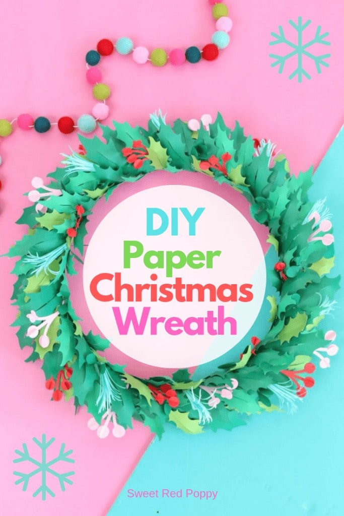 Learn How to Create a Beautiful Christmas Wreath from Cardstock Using a Cricut Machine.