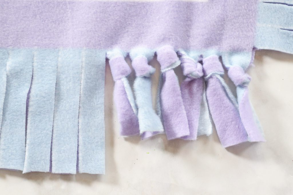 how to sew a fleece baby blanket