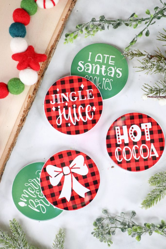 Cricut infusible ink coasters tutorial Christmas Gift