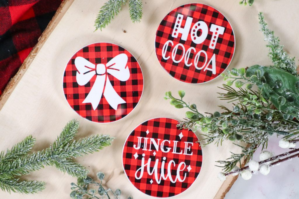Cricut Infusible Ink Christmas Coasters
