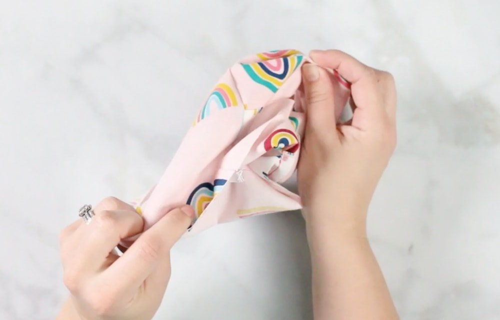 How to Sew a Bias Tape Surgical Face Mask with Flexible Nose, a sewing tutorial featured by top US sewing blog, Sweet Red Poppy