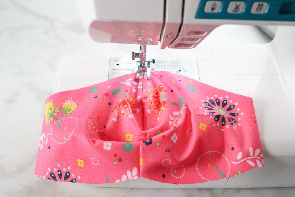 How to Sew a Fitted Face Mask with Casing, a tutorial featured by top US sewing blog, Sweet Red Poppy