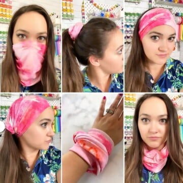 How to Make a Neck Gaiter Face Mask Sewing Tutorial featured by top US sewing blogger, Sweet Red Poppy.