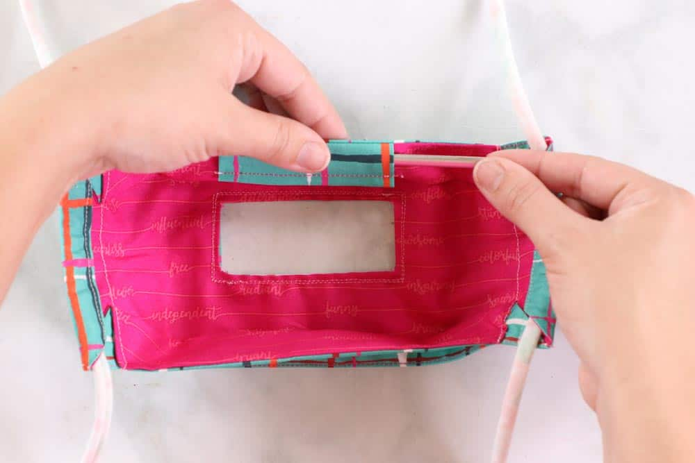 3D Clear Face Mask Sewing Tutorial for the Deaf & Hard of Hearing featured by top US sewing blogger, Sweet Red Poppy.