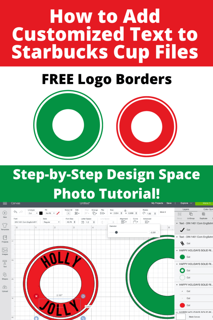 Editable Starbucks Cup Logo Border Template featured by top US craft blogger, Sweet Red Poppy.