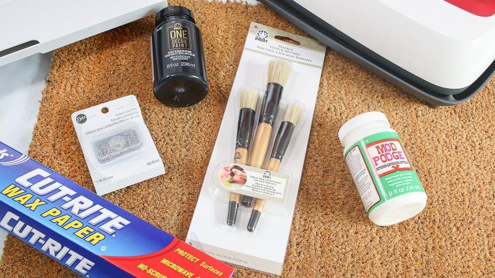 Supplies for Personalized Cricut Coir Door Mat