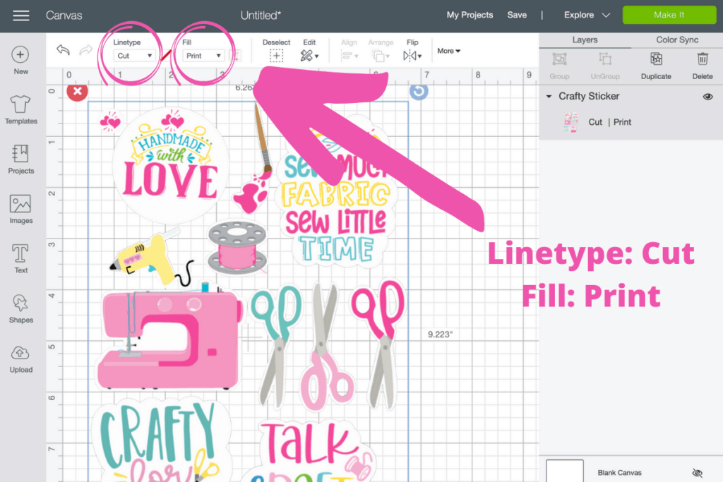 Cricut Print then Cut Stickers tutorial featured by top Cricut blogger, Sweet Red Poppy.