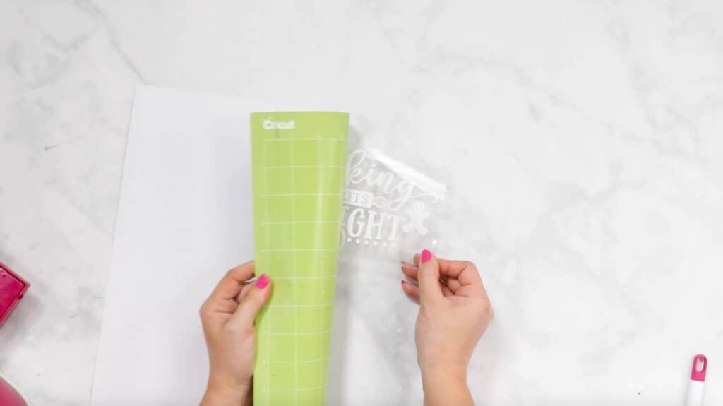 Pulling off Pot Holder Design from Cricut cutting mat