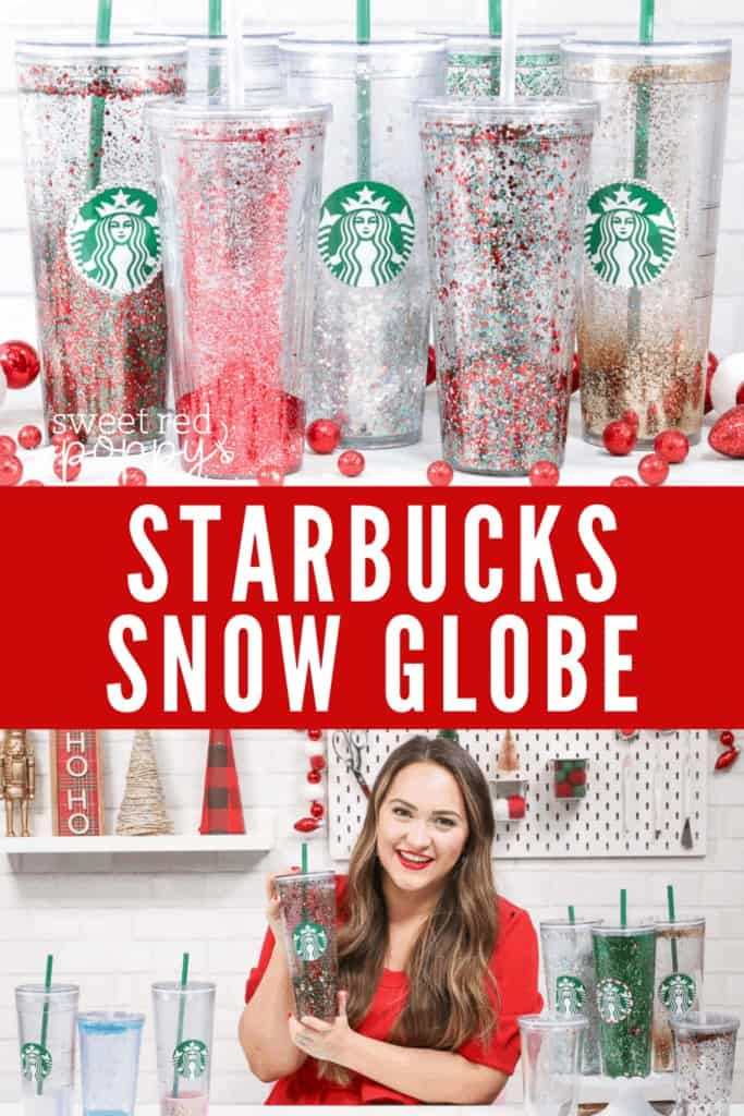 Learn How to Make a Starbucks Snow Globe Tumbler With Floating Glitter in This Step by Step Tutorial and Video.