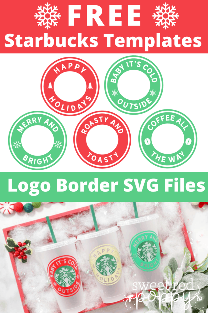 Learn How to Customize Starbucks Cups with Personalized Vinyl Logo Decals. FREE Starbucks SVG Template and Files Included.