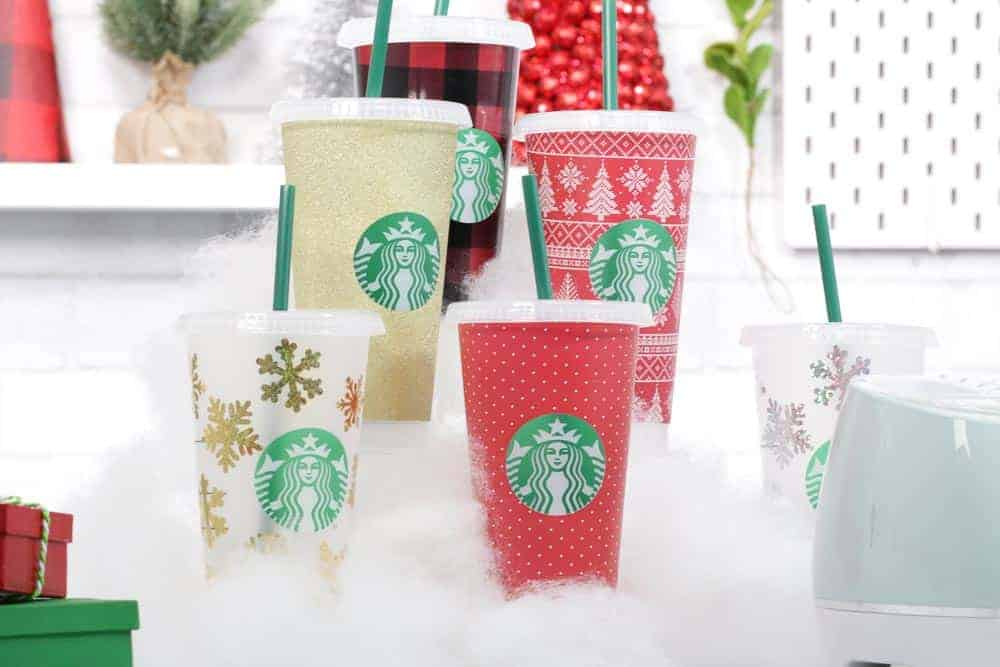 FREE Customizable Starbucks Coffee Cup Wrap Template featured by top US craft blogger, Sweet Red Poppy.