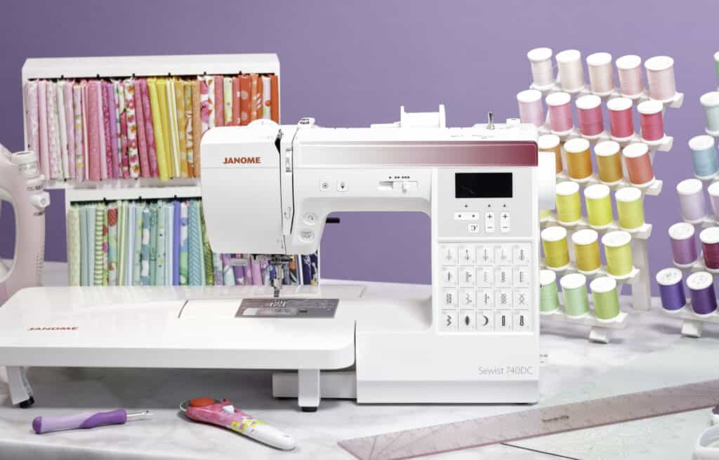 Janome Sewist by popular US sewing blog, Sweet Red Poppy: image of a Janome Sewist 740 DC.