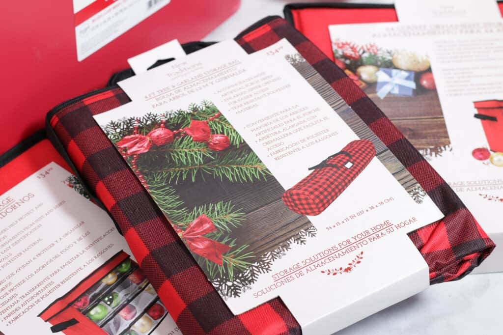 Joann Christmas Storage by popular US craft blog, Sweet Red Poppy: image of Joann holiday gift wrapping paper organizers.
