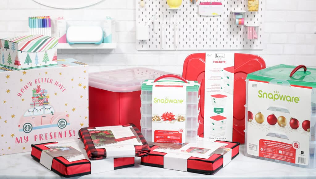 Joann Christmas Storage by popular US craft blog, Sweet Red Poppy: image of Joann storage and organization containers.