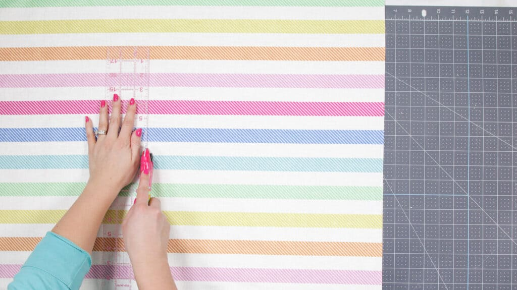 Cut out Fabric for Envelope Pillow Case