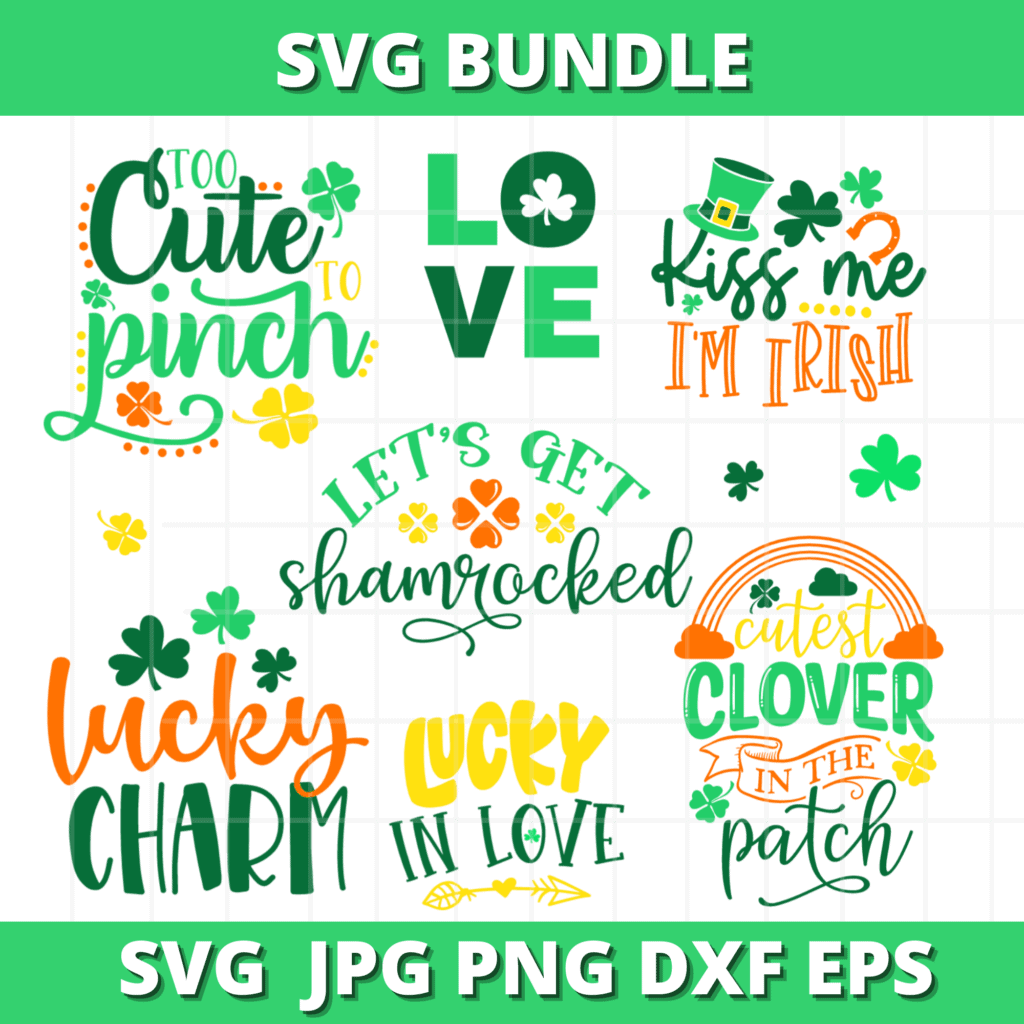 FREE St. Patricks Day SVG Files |St. Patrick's Day SVG Files by popular US craft blog, Sweet Red Poppy: image of St. Patricks Day SVG files.