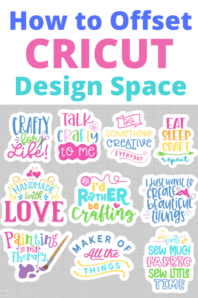 Learn How to Use Offset in Cricut Design Space to Create a Shadow or Outline Around Your Image or Text to Make It Pop! |How to Use Offset by popular US craft blog, Sweet Red Poppy: Pinterest image of how to use offset Cricut design space.