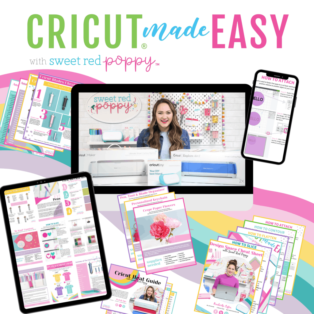 Cricut Maker 3 by popular US craft blog, Sweet Red Poppy: Pinterest  image of how to use a Circut Maker 3.
