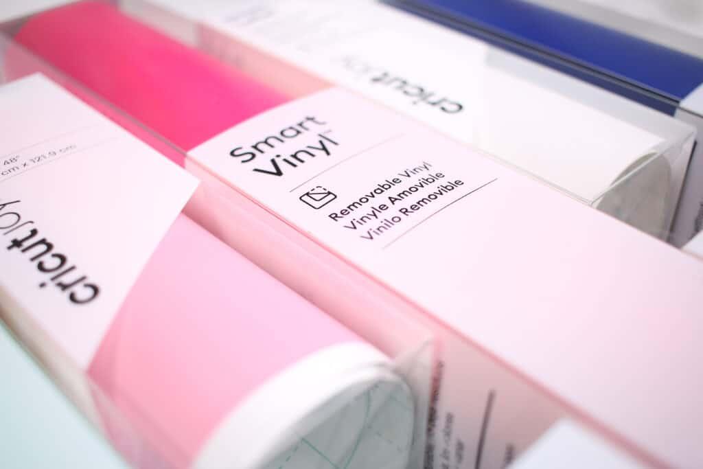 Circut Maker 3 by popular US craft blog, Sweet Red Poppy: image of of Cricut smart vinyl.