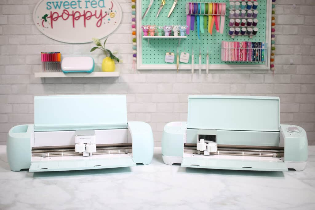 Cricut Explore 3 by popular US craft blog, Sweet Red Poppy: image of a Cricut Explore 3 and Cricut Air 2.