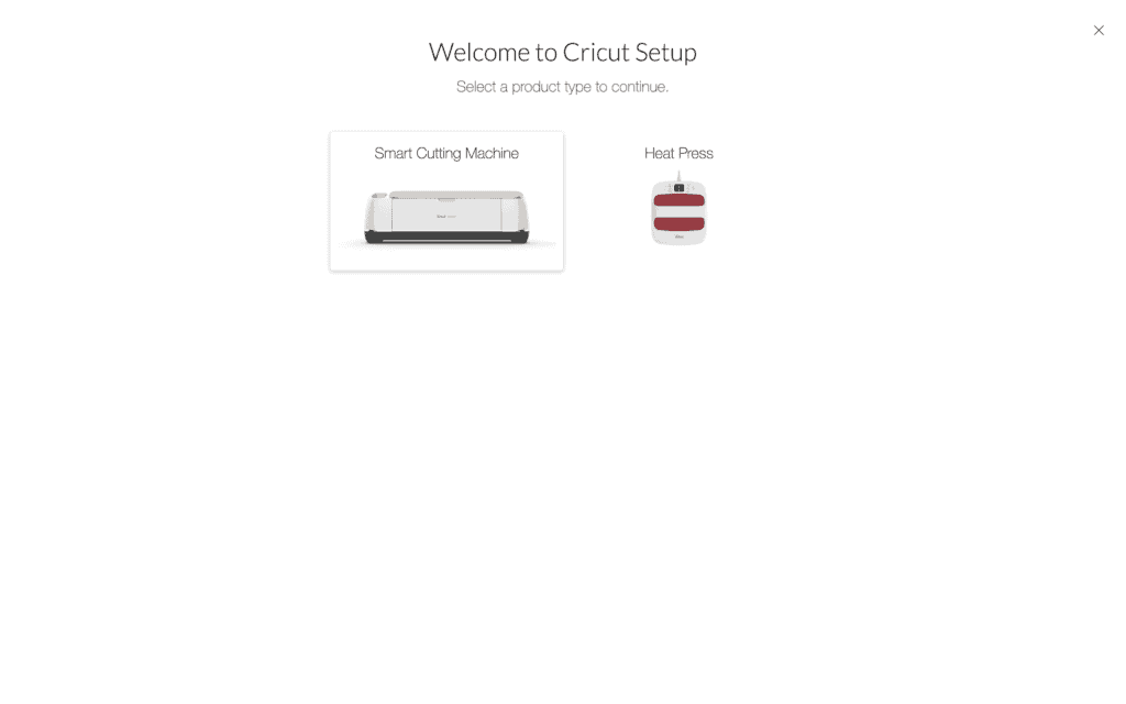 Cricut Explore 3 unboxing by top US craft blogger, Sweet Red Poppy | Cricut Explore 3 by popular US craft blog, Sweet Red Poppy: screen shot image of the Cricut setup page.