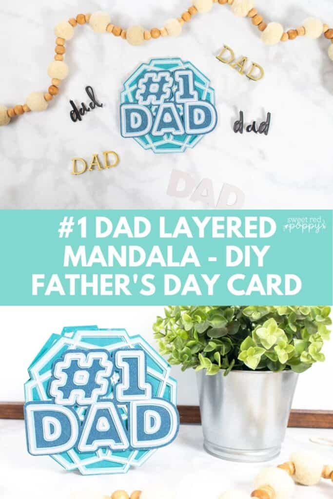 DIY Father's Day Card by popular US craft blog, Sweet Red Poppy: Pinterest image of a DIY Father's Day card.