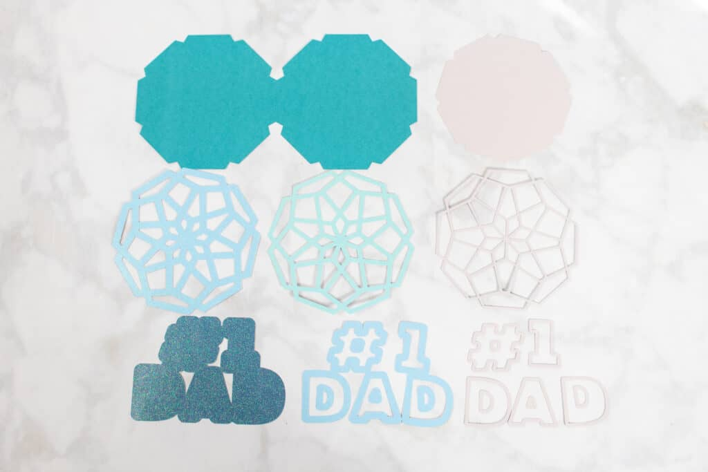 DIY Father's Day Card by popular US craft blog, Sweet Red Poppy: image of a mandala.