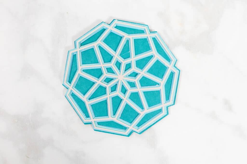 DIY Father's Day Card by popular US craft blog, Sweet Red Poppy: image of a mandala cutout.