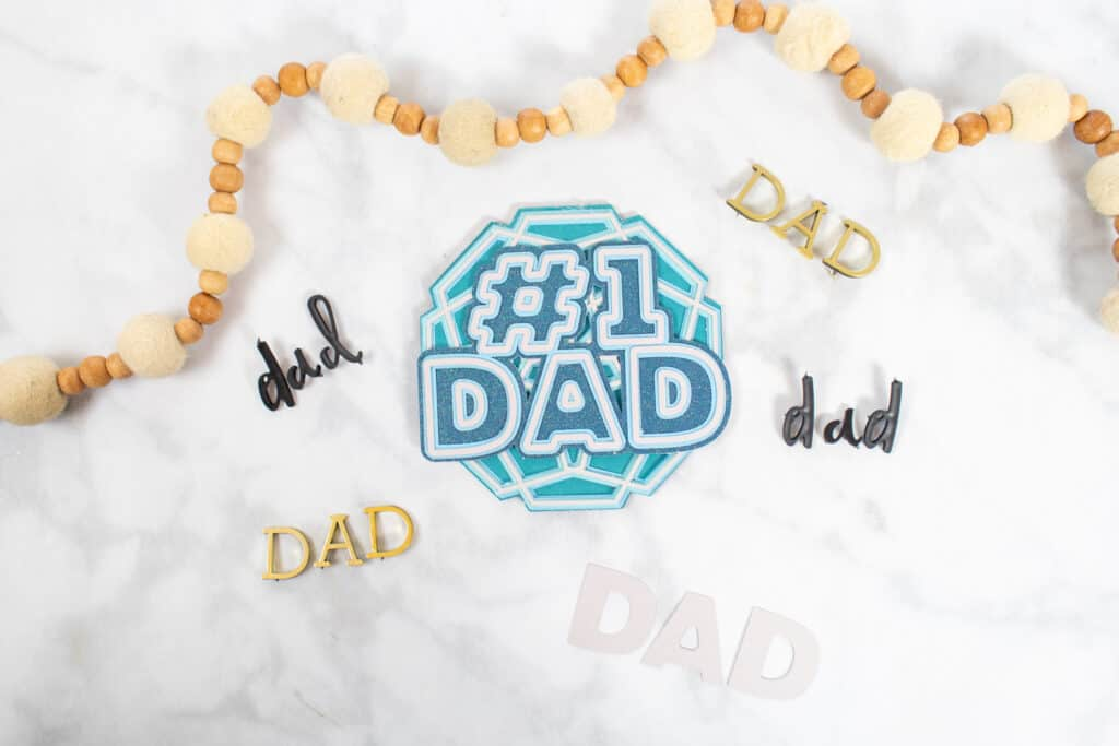 DIY Father's Day Card by popular US craft blog, Sweet Red Poppy: image of a blue and white DIY Father's Day Card.