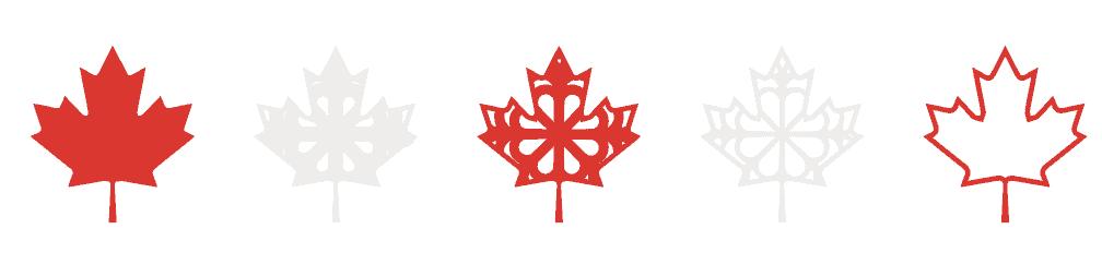 Canada Day Wreath vom beliebten US-Handwerksblog Sweet Red Poppy: Bild einiger rot-weißer Ahornblätter.