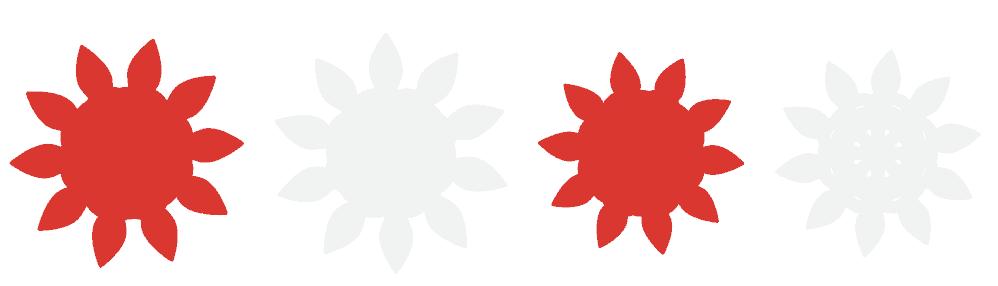 Canada Day Wreath vom beliebten US-Handwerksblog Sweet Red Poppy: Bild aus rotem und weißem Blütenblattpapier.