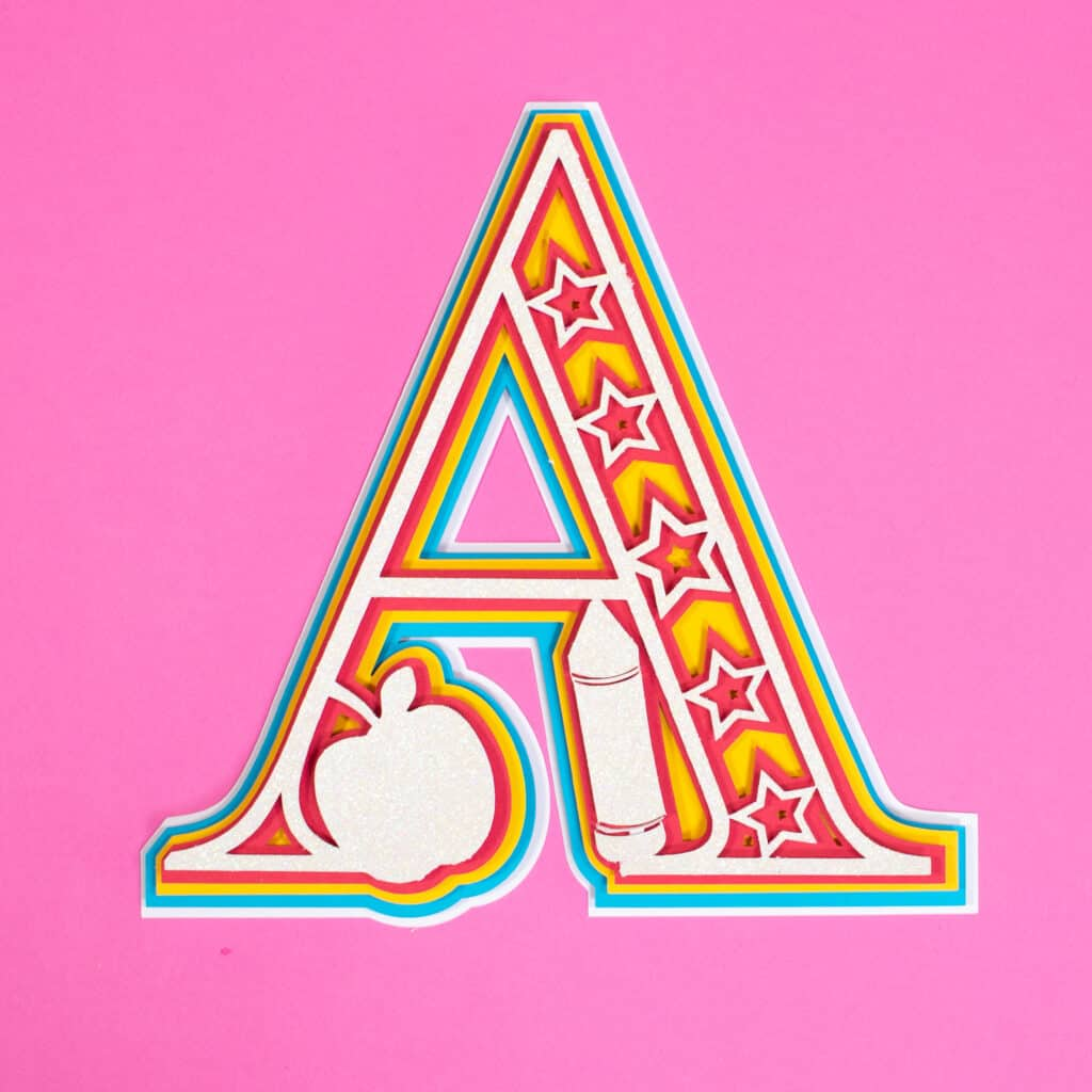 Layered Alphabet by popular US craft blog, Sweet Red Poppy: image of a letter A mandala.