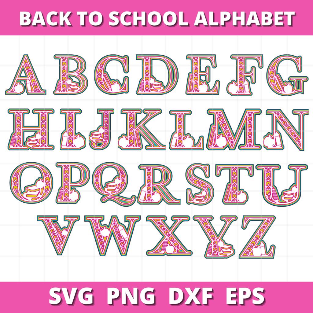 Layered Alphabet by popular US craft blog, Sweet Red Poppy: image of layered mandala alphabet letters.