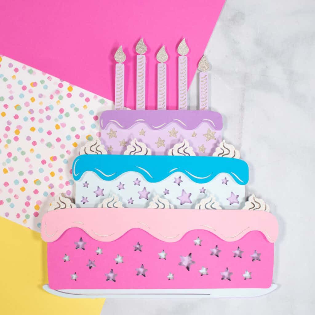 Layered Birthday Cake SVG File