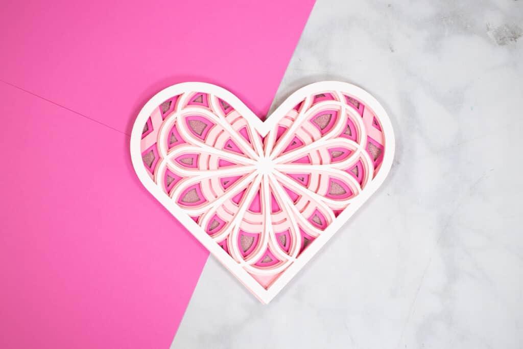 Layered Heart Mandala SVG File