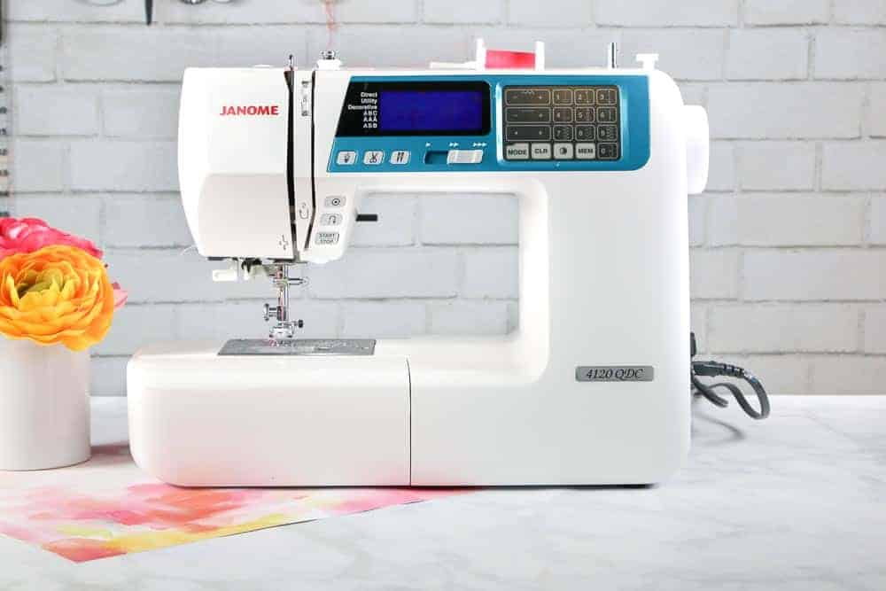 Janome Sewing Machine   Serger VS Sewing Machine by popular US sewing blog, Sweet Red Poppy: image of a Janome sewing machine.