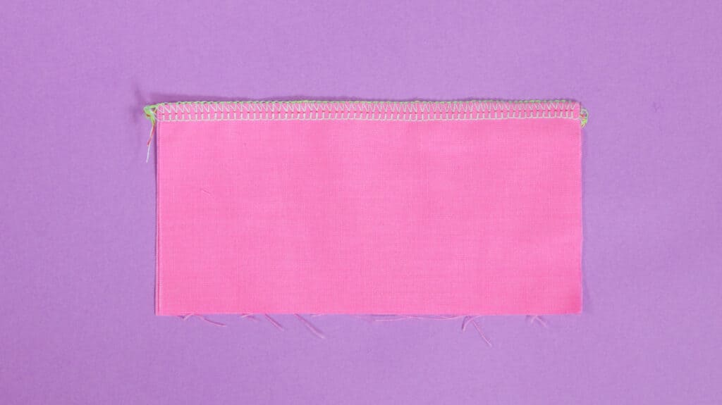 4 Thread Overlock Serger Stitch | What is a Serger by popular US sewing blog, Sweet Red Poppy: image of a 4 thread overlock serger stitch.