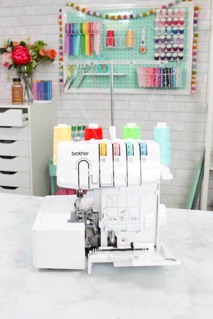 Which Serger Should I Get? | Brother 1034D Serger by popular US sewing blog, Sweet Red Poppy: image of the Brother 1034D serger.
