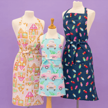 Sweet Red Poppy Free Apron Sewing Pattern